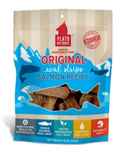Plato Dog Treats Salmon Strips