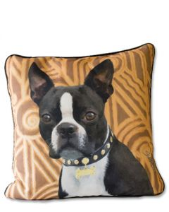 POPPA-ARTZEE - Boston Terrier Throw Pillow