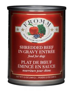 Fromm Family Foods Four Star Shredded Beef in Gravy Entree Dog Food