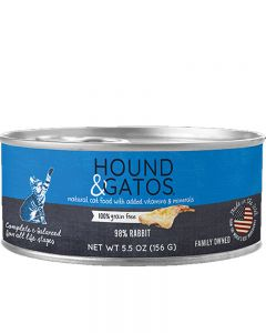 Hound & Gatos - 98% Rabbit - Canned Cat Food