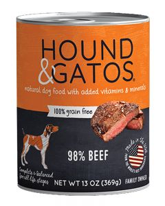 Hound & Gatos Beef Canned Dog Food