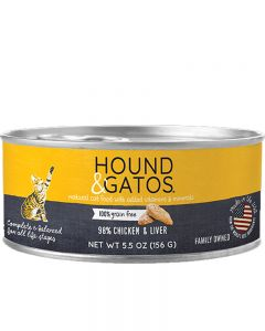 Hound & Gatos Chicken & Chicken Liver Canned Cat Food