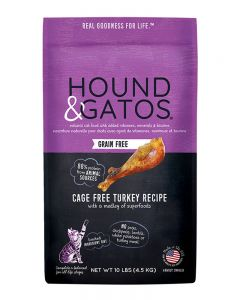 Hound & Gatos Grain-Free Cage Free Turkey Recipe Dry Cat Food