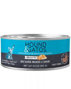 Hound & Gatos Salmon, Mackerel & Sardine Recipe Canned Cat Food