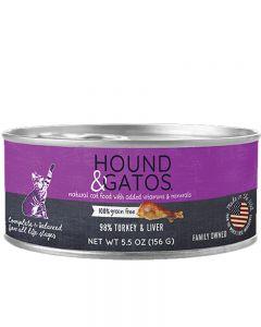 Hound & Gatos Turkey & Turkey Liver Canned Cat Food
