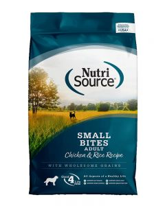 NutriSource Chicken & Rice Formula Adult Small Bites Dog Food