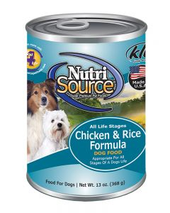 NutriSource Chicken & Rice Formula Canned Dog Food