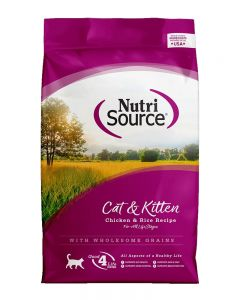NutriSource Chicken & Rice Formula Cat & Kitten Food