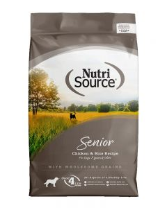 NutriSource Chicken & Rice Formula Senior Dog Food
