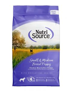 NutriSource Chicken & Rice Formula Small/Medium Breed Puppy Food