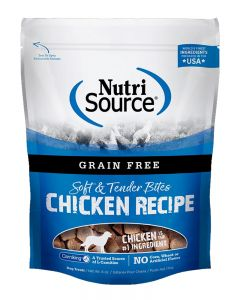 NutriSource Grain Free Chicken Bites Dog Treats