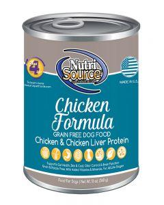 NutriSource Grain Free Chicken Formula Canned Dog Food