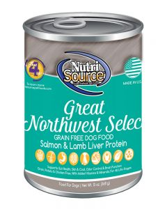 NutriSource Grain Free Great Northwest Select Canned Dog Food