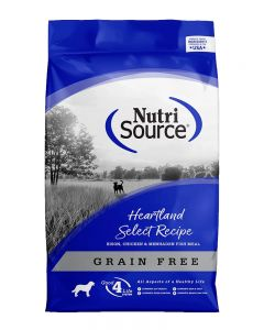 NutriSource Grain Free Heartland Select Bison Dry Dog Food