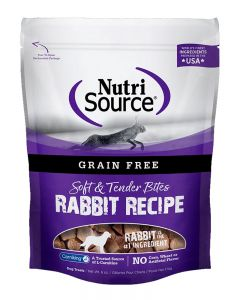 NutriSource Grain Free Rabbit Bites Dog Treats