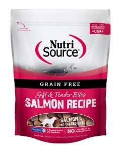 NutriSource Grain Free Salmon Bites Dog Treats