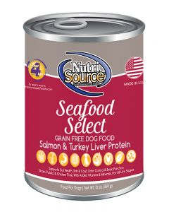 NutriSource Grain Free Seafood Select Canned Dog Food