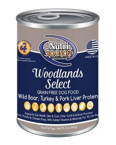 NutriSource Grain Free Woodlands Select Canned Dog Food