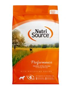 NutriSource Performance Chicken and Rice Formula Dog Food