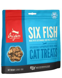 ORIJEN - Freeze Dried 6 Fish Cat Treat