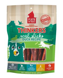 Plato Dog Thinkers Natural Duck Dog Treats