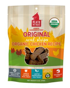 Plato Dog Treats Organic Chicken Strips