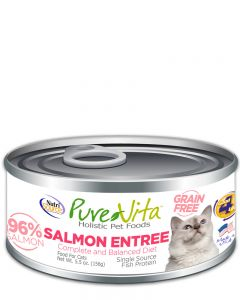 Pure Vita Grain Free Salmon Entree Canned Cat Food