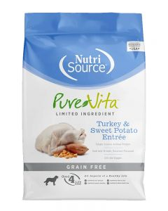 Pure Vita Grain Free Turkey Formula w/Sweet Potato & Peas Dry Dog Food