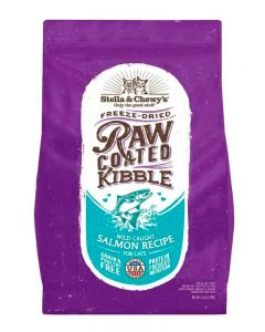 Stella & Chewy's Wild-Caught Salmon Raw Coated Kibble Dry Cat Food