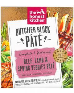 The Honest Kitchen Beef, Lamb & Spring Veggies Butcher Block Paté