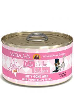 Weruva Cats in the Kitchen Kitty Gone Wild Salmon Recipe Au Jus