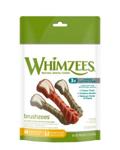 Whimzees Brushzees All Natural Dental Dog Treats