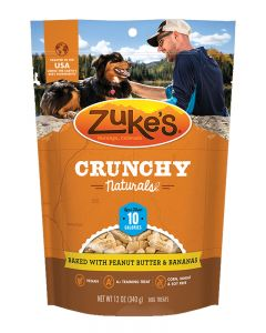 Zuke's Crunchy Naturals 10s Baked with Peanut Butter & Bananas Dog Treats