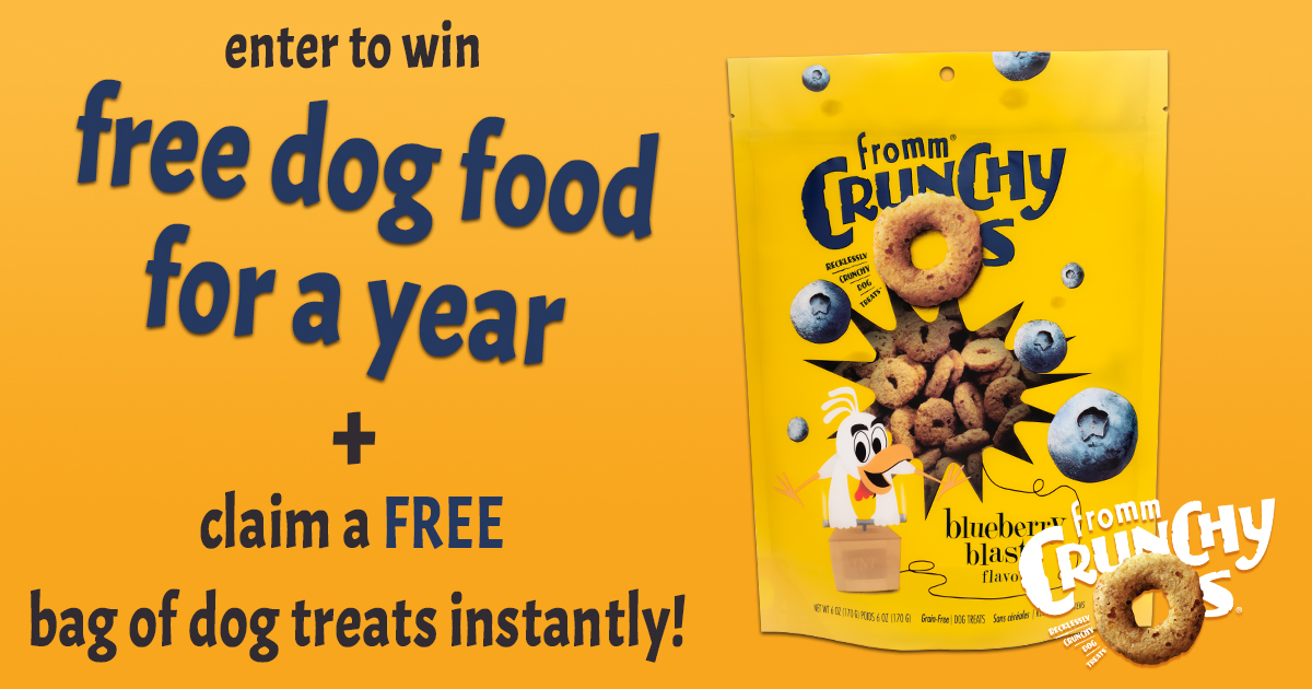 Win One Year of FREE Dog Food + Free Fromm Treat Giveaway!